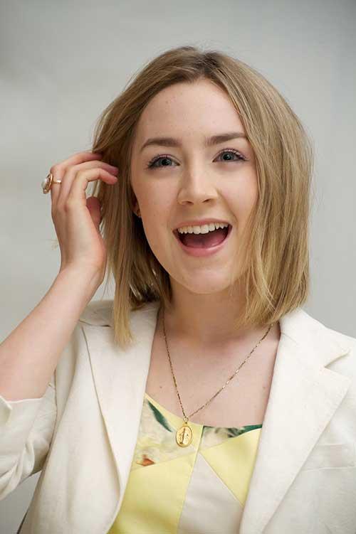 Saoirse-Ronan-Fine-Ash-Blonde-Bob-Haircut New Bob Haircuts for Fine Hair