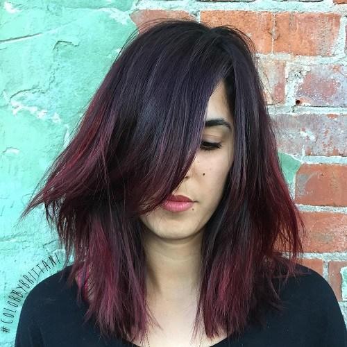 Scarlet-Ombre Trendy Mahogany Hair Color Ideas