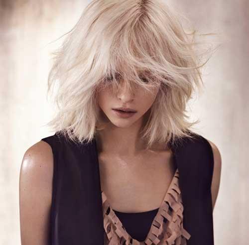 Short-Blonde-Messy-Hair Messy Hairstyles for Short Hair