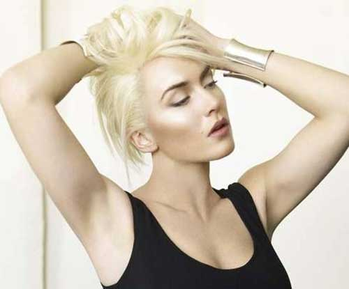 Short-Blonde-Sexy-Messy-Hair Messy Hairstyles for Short Hair