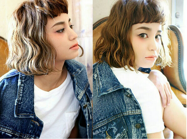 Short-Curly-Bob-Hairstyle-for-Asian-Girls Trendiest Bob Haircuts for Women