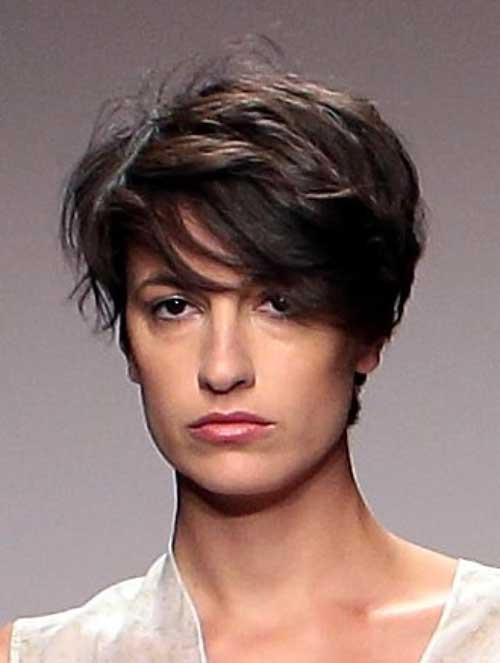 Short-Dark-Messy-Pixie Messy Hairstyles for Short Hair