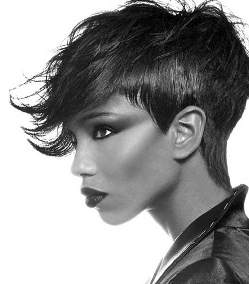 Short-Dark-Pointy-Messy-Hair Messy Hairstyles for Short Hair