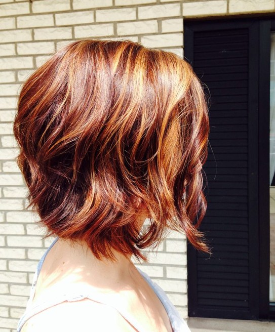 Short-Red-Hairstyle-–-Side-View-of-Short-Red-Bob-Haircut Short Bob Haircuts: Hottest Bob Hairstyles 2019