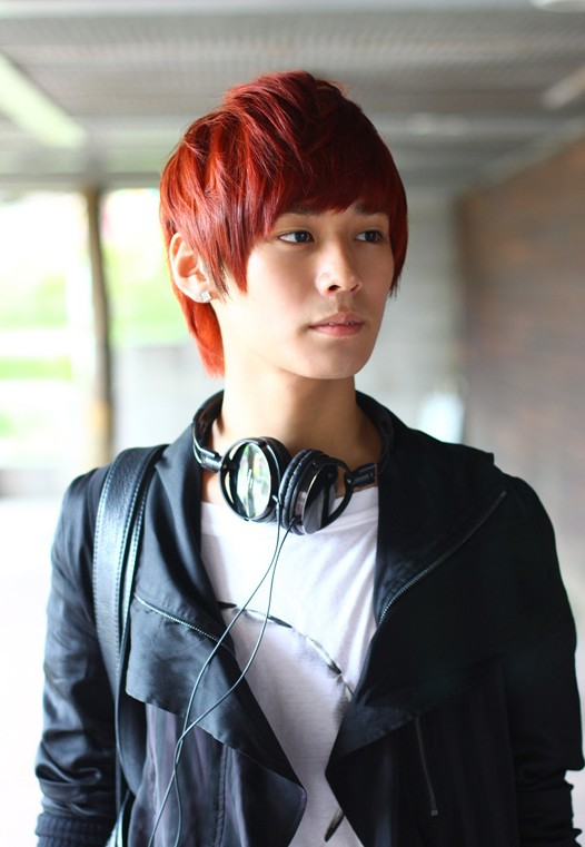 Short-Red-Korean-Hairstyle-for-Young-guys Cool Korean and Japanese Hairstyles for Asian Guys
