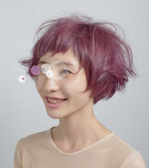Short-Voluminous-Messy-Hair Messy Hairstyles for Short Hair