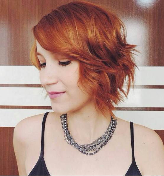 Short-Wavy-Bob-Hairstyle-for-Red-Hair-1 Modern Bob Hairstyles for 2019 – Best Bob Haircut Ideas