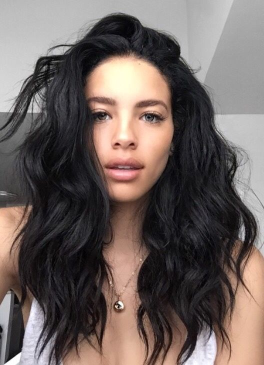Shoulder-length-black-wavy-hairstyle-for-women Stunning Hairstyles for Black Hair 2019