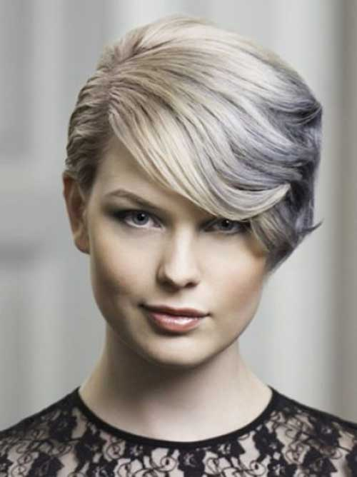 Silver-Blonde-Short-Hair Short Formal Hairstyles with Hottest Way