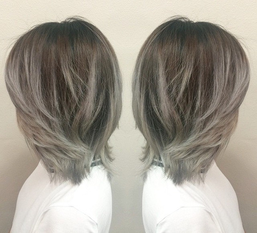 Silver-Choppy-Bob Gorgeous Ways to Rock Blonde and Sliver Hair