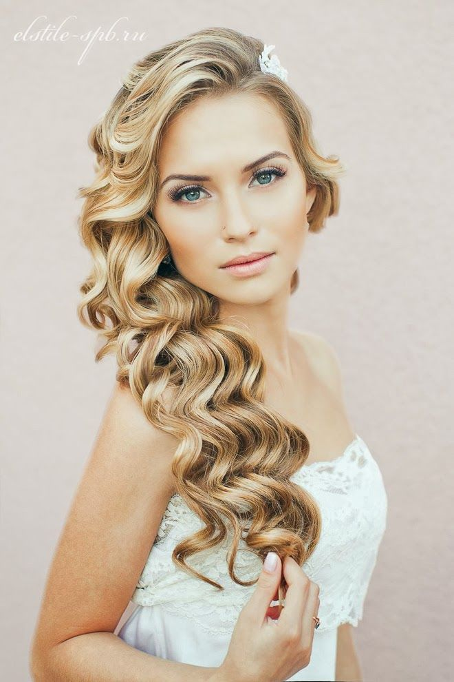 Stunning-Long-Curly-Wedding-Hairstyle Simple But Beautiful Wedding Hairstyles 2019