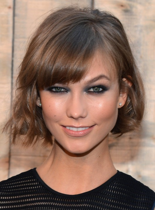 Trendy-Layered-Short-Bob-Hairstyle-with-Bangs Short Bob Haircuts: Hottest Bob Hairstyles 2019