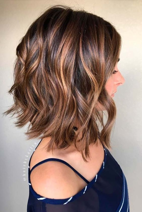 Trendy-shoulder-length-balayage-hair Flattering Medium Hairstyles for 2019