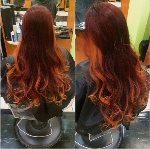 Two-Tone-Red-Ombre New Hairstyles and Hair Color Ideas for Fall