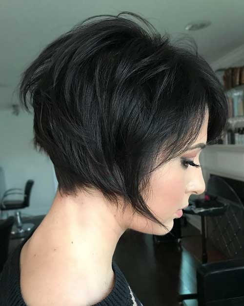 short-layered-hairstyles-for-thick-hair Popular Short Layered Hairstyle Ideas