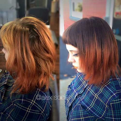 short-to-medium-length-layered-haircuts Popular Short Layered Hairstyle Ideas