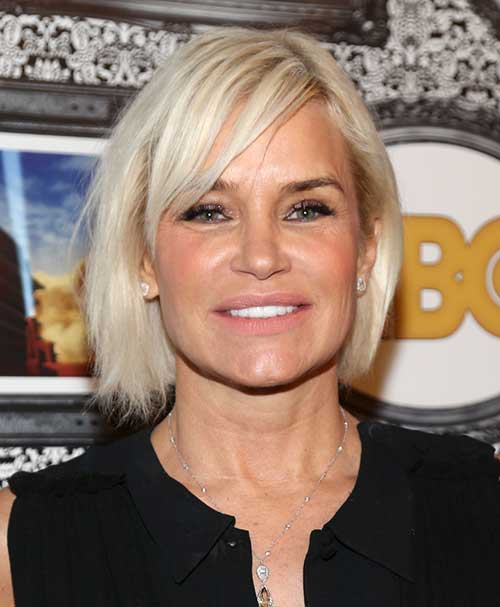 A-line-platinum-blonde-bob Short Hair Styles for Women Over 40