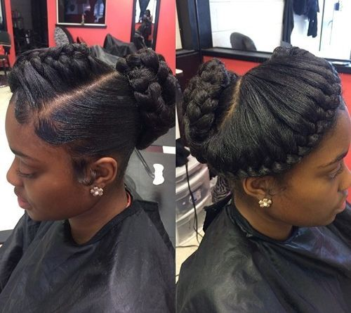 Angled-Up-Do Best Goddess Braids for Women – Goddess Braids Ideas