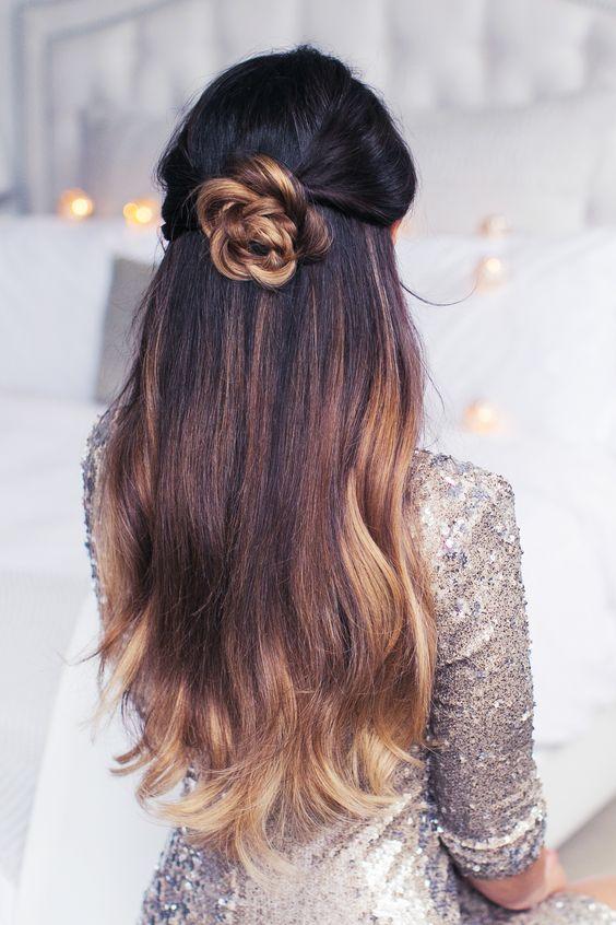 Back-Bun Adorable Hairstyles for Long Hair