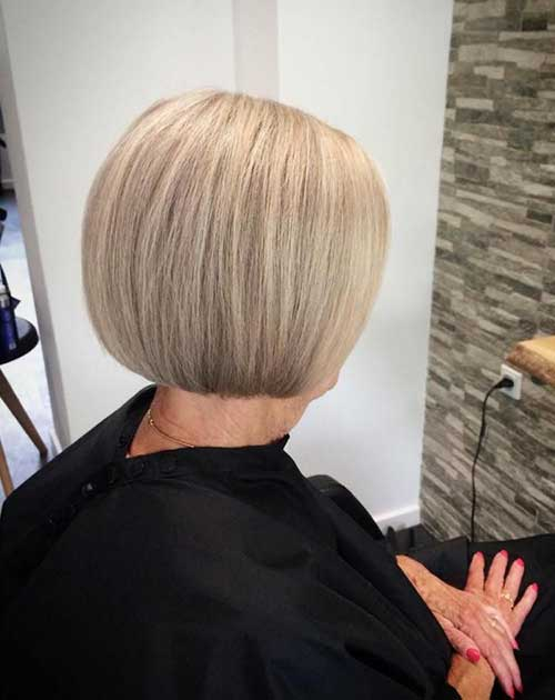 Blonde-Bob-for-Over-50 Gorgeous Short Hairstyles for Women Over 50