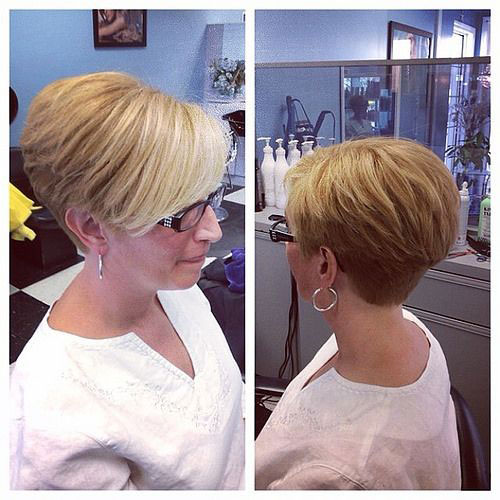 Blonde-Thick-Pixie New Short Haircuts for Older Women with Fine Hair