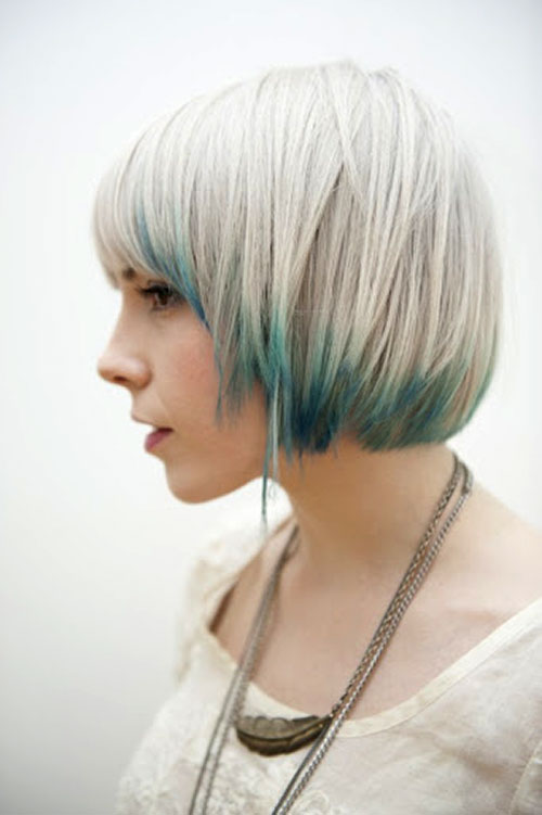 Blonde-and-blue-hairstyles Best Short Hair Colors