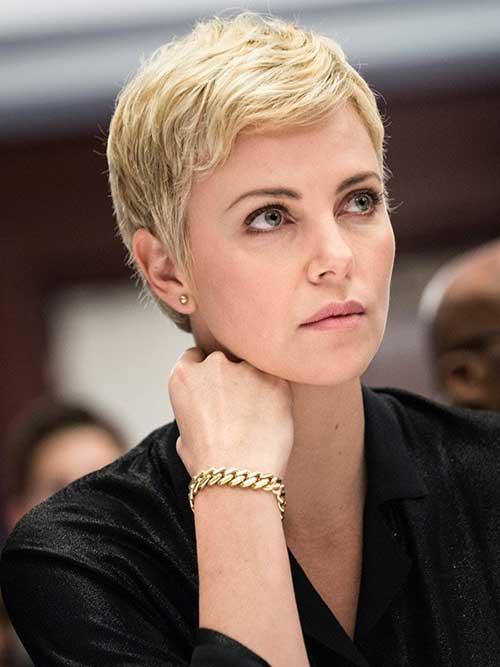 Blonde-short-pixie Short Hair Styles for Women Over 40