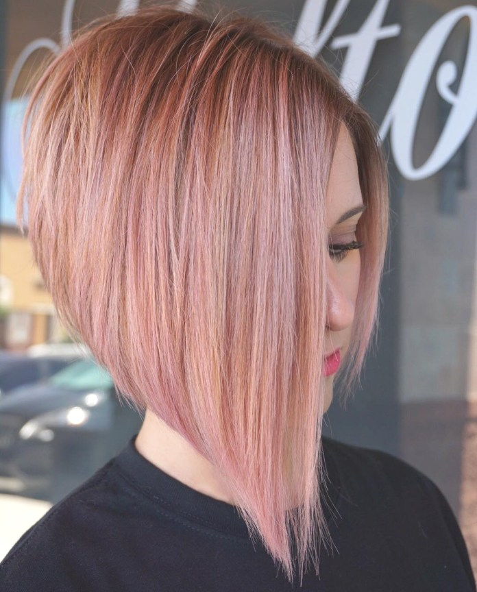 Bob-with-Crown-and-Different-Angle Cute Bob Haircuts for Women to Look Charming