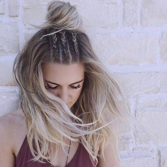 Braided-Bun-for-Long-Hair Adorable Hairstyles for Long Hair