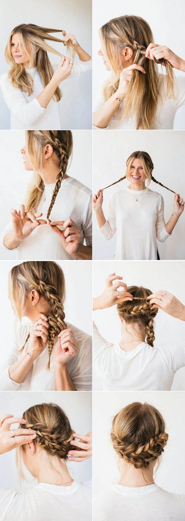 Braided-Low-Hairdo-for-Stunning-Summer-Look Cool and Cute Summer Hairstyles for Women