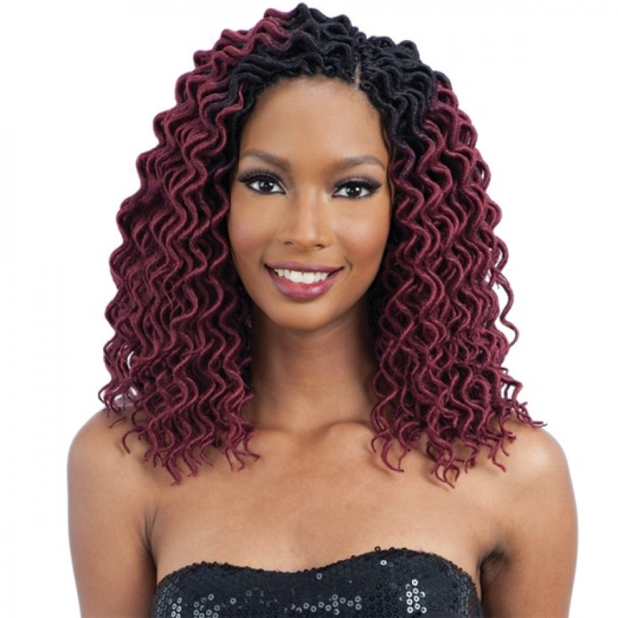 Burgundy-Curly-Hairstyle Worth Trying Curly Hairstyles with Braids