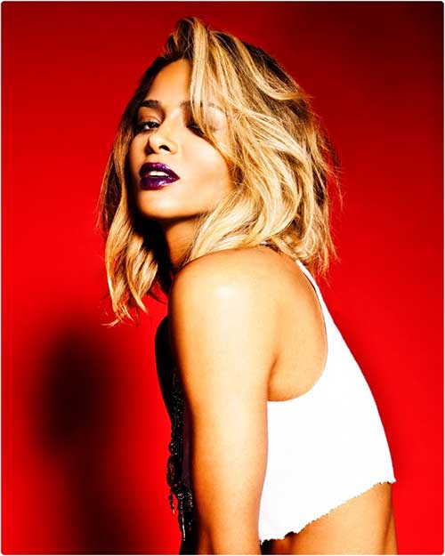 Ciara's-Alluring-Short-Blonde-Hairstyle Short Hairstyles 2019 Trends