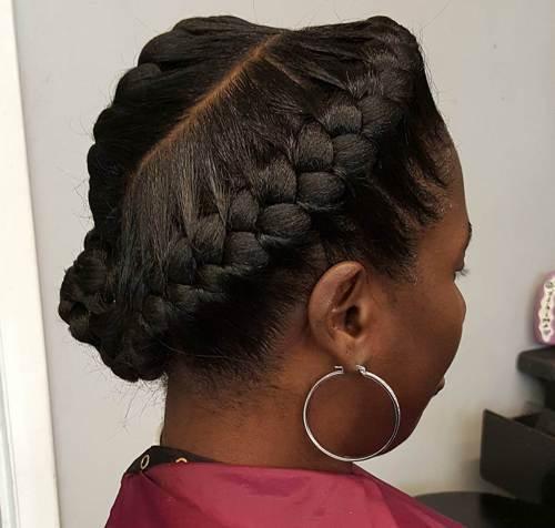 Classic-Up-Do Best Goddess Braids for Women – Goddess Braids Ideas