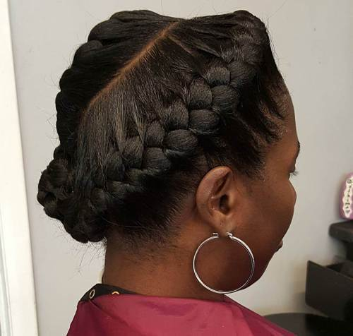 Classic-Up-Do Best Goddess Braids for Women – Goddess Braids Ideas