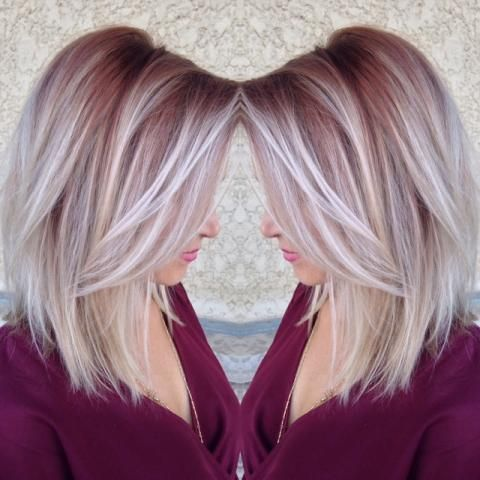 Create-a-Deep-Part Ways to Rock Rooty Hair – Trendy Ombre Balayage Hairstyles