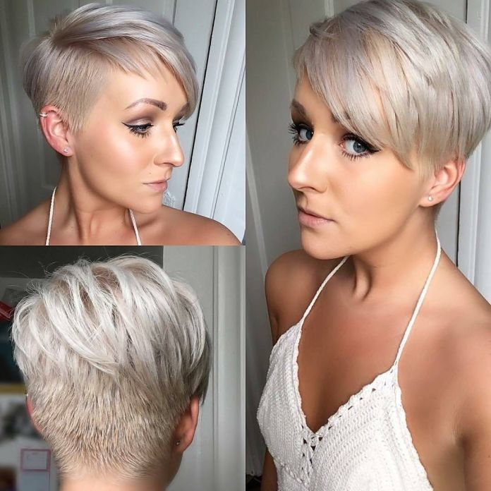 Cropped-Back-with-Side-Angular-Modern-Short-Haircut Marvelous Modern Short Haircuts for Women