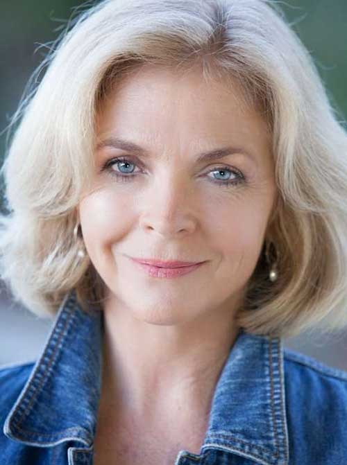Cute-Blonde-Bob Gorgeous Short Hairstyles for Women Over 50