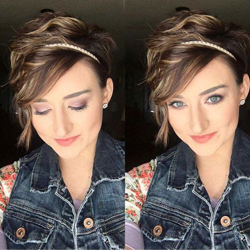 Cute-Girl-Hairstyle Short Pixie Cuts for Round Faces