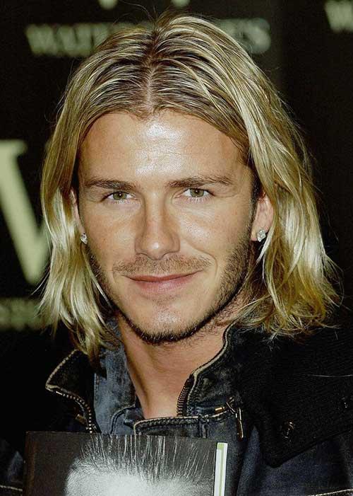 David-Beckham's-Long-Hair David Beckham's Trendsetter Hairstyles