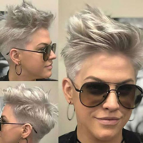 Edgy-Rocker-Short-Hairstyle Latest Edgy Pixie Haircuts