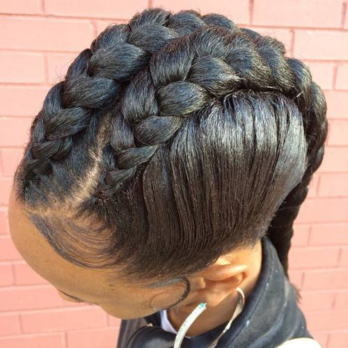 Faux-Hawk Best Goddess Braids for Women – Goddess Braids Ideas
