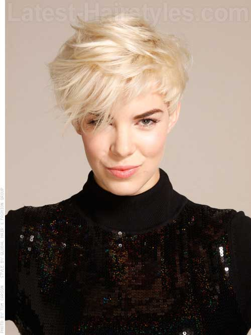 Funky-style-cut-pixie Short Hair Styles for Women Over 40