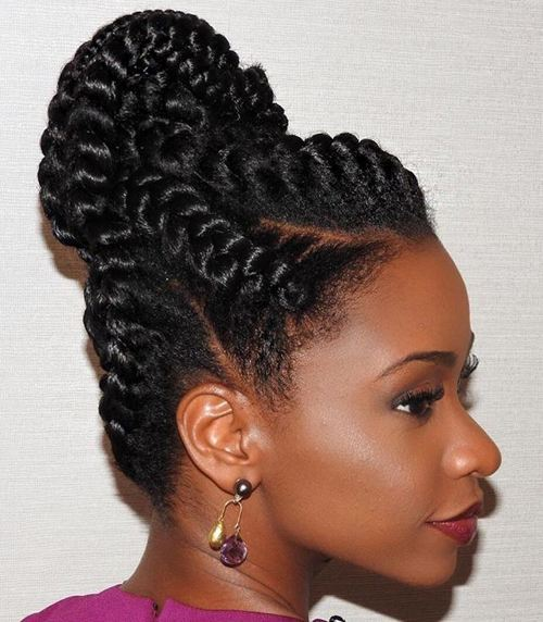 Intricate-Up-Do Best Goddess Braids for Women – Goddess Braids Ideas
