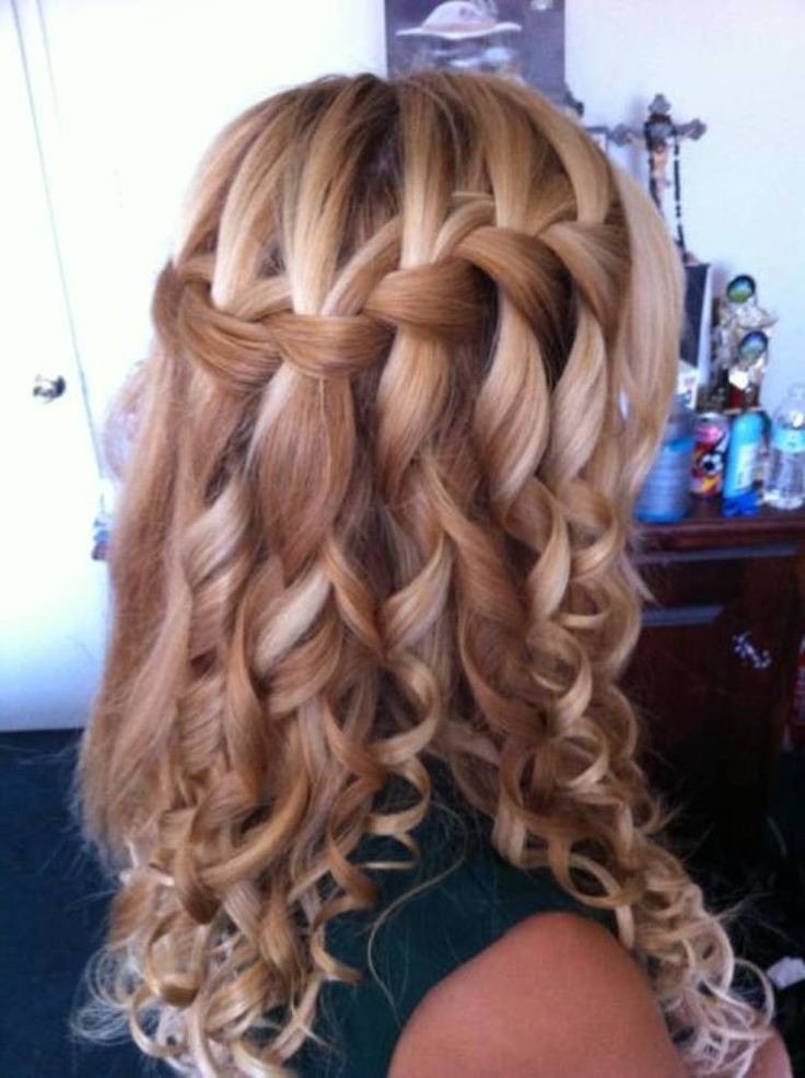 Intricate-Waterfall-Braid Worth Trying Curly Hairstyles with Braids
