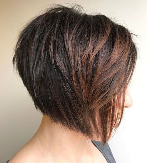 Inverted-Stacked-Bob New Ideas Short Haircuts for Thick Hair