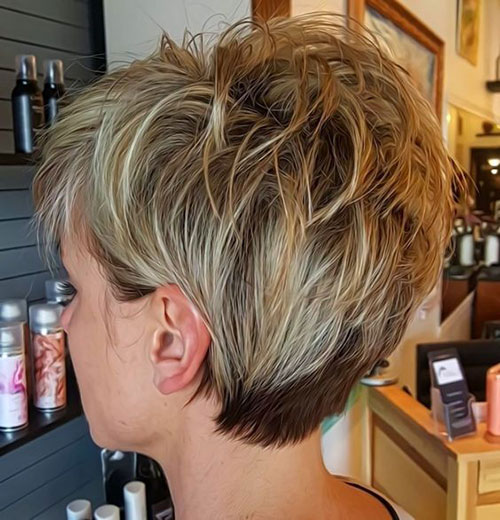 Layered-Pixie-Style Ideas About Short Pixie Haircuts for Women
