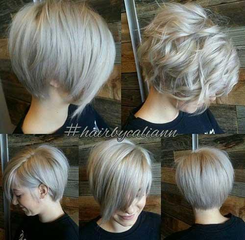 Layered-Short-Blonde-Bob-Cut-for-Wavy-Hair Nice Layered Wavy Bob Hairstyle