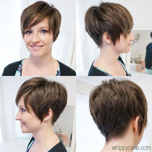 Long-Layered-Bangs Latest Edgy Pixie Haircuts