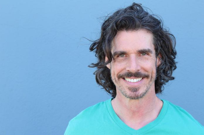 Long-Messy-Hair-with-Moustache Mens Hairstyles Over 40 for Dapper Look