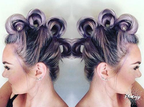 Looped-Faux-Hawk Faux Hawk Hairstyle for Women – Trendy Female Fauxhawk Hair Ideas